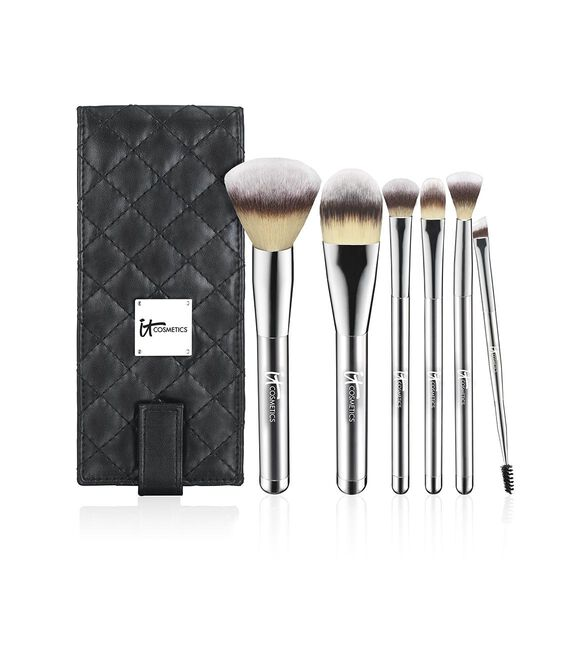 Heavenly Luxe™ 6-Piece Travel Brush Set + Case