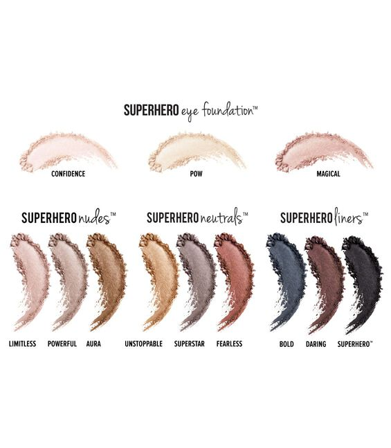 Superhero Eye Transforming Anti-Aging Super Palette Main Image Swatches of 12 Shades