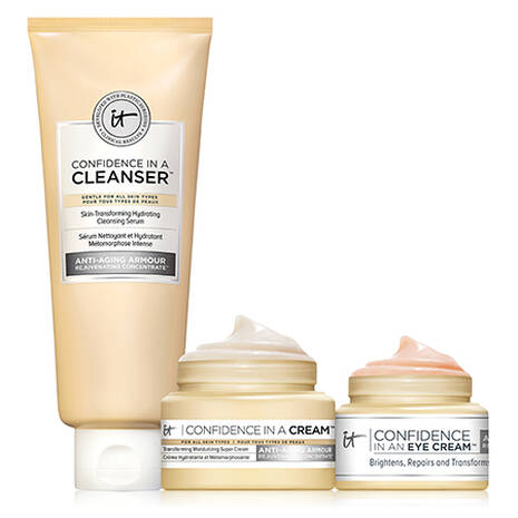 IT's Your Confidence Skincare Trio! ($49 Value) with cleanser, moisturizer and eye cream.