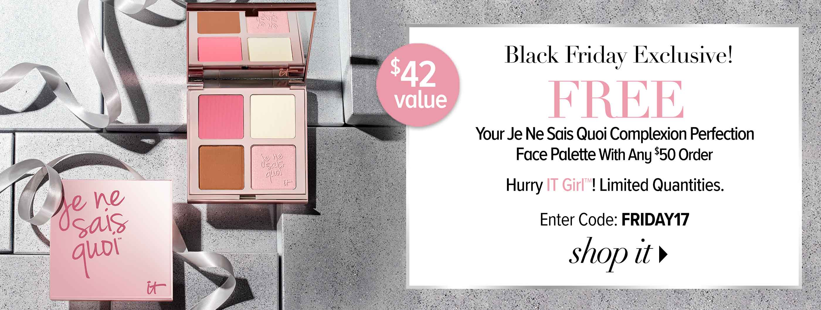 Black Friday - Free JNSQ Palette with $50 order