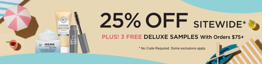 25% off sitewide* | Free deluxe samples with $75 order